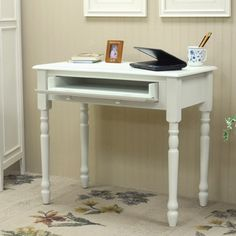 """Carolina Cottage Bella 34"""" Desk in Antique Ivory"""