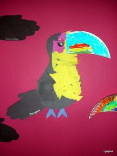 Tippytoe Crafts: birds toucan craft for rainforest!