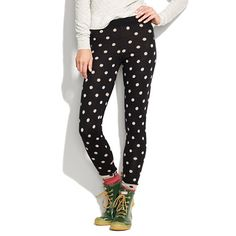 spotted sweater leggings