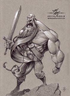 Sketchy Viking by Ke