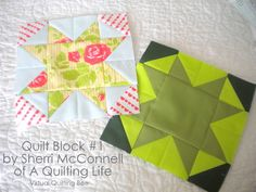 Diary of a Quilter - a quilt blog: Virtual Quilting Bee Block #1 by Sherri http://www.diaryofaquilter.com/2013/03/virtual-quilting-bee-block-1-by-sherri.html