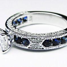 Something Blue Wedding Ideas - Blue Sapphire Wedding Ring