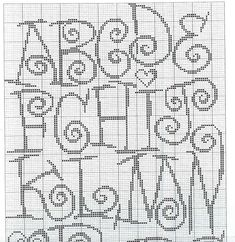 cross stitch alphabet swirls