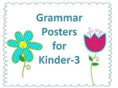 This packet includes 12 anchor charts. You can print them poster size by going to printer settings.*Compound Words*Nouns*Verbs*Adjectives...