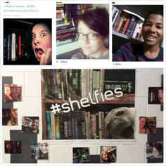 The #bookshelfie tumblr was inspiration for my latest library display - the #shelfie . Students snap selfies in front of their own home libraries, and then share their #shelfie with me and others via Twitter or Instagram. It's fun to see what books they decide to feature, and also interesting to note how many teen collections feature at least one Stephen King book - much as mine did back in the 80s! #librarydisplays