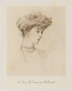 Consuelo, Duchess of Marlborough (c. 1909) published by Bassano Ltd.| Consuelo Vanderbilt, later Mme Jacques Balsan.