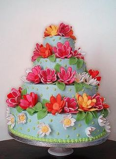 What a great spring birthday cake idea.