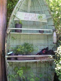 boat plant stand