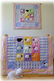 cute baby quilt, pattern available from Sew Karen-ly Created