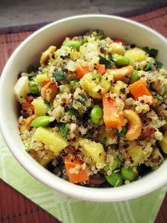 Vanilla & Spice: Recipe Round Up: Summer Eats - Asian Pineapple Quinoa