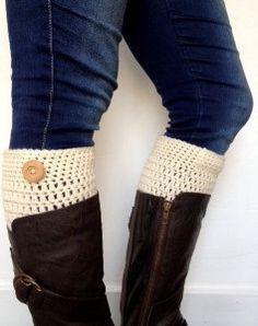 PDF PATTERN Crochet Boot Cuffs... @Alicia Johnson these are super cute!