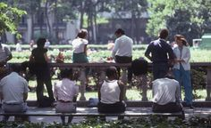 1983: Urbanist William H. Whyte advocated movable seating in public spaces, citing the social limitations of fixed seating, such as benches and railings.  Bryant Park is now undeniably social, with 4,120 chairs.