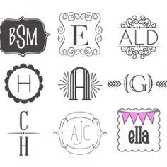 72 Fonts & Frames for Monogramming