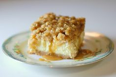 Caramel Apple Cheesecake Bars : drooling.... (click on picture which takes you to link, then scroll down page until you find this recipe) :)
