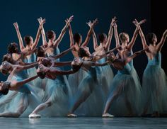 Miami City Ballet in Balanchine's Serenade. Photo by Daniel Azouley.