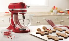 #KitchenAid® 5-Quart Tilt-Head Designer Series Stand #Mixer with Glass Bowl - Candy Apple