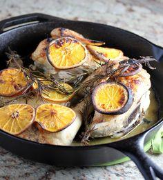 LIsa's Dinnertime Dish:  Roasted Citrus Rosemary Chicken