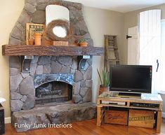 Love the tv stand made out of pallets