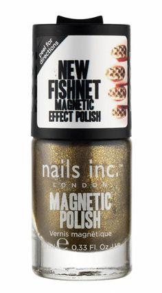 Nails Inc - Magnetic - Piccadilly Fishnet (Gold Shimmer)