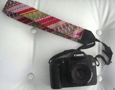 Upcycled and Recycled Men's Neckties camera strap
