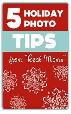 {5 Simple Holiday Photo Tips | From Real Moms for Real Moms}  I want to work on getting a Christmas tree lights shot like this one this year... Who takes the photos at your house?