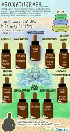 Skinny Diva Beauty: Aromatherapy: Top 10 Essential Oils and Primary Benefits [Infographic]