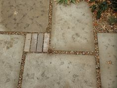 homemade concrete pavers