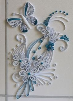 Beautiful Quilling Flowers monochromatic