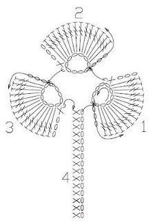 Crochet Clover - Chart ❥ 4U // hf