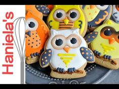How to decorate halloween owl cookies Pinned by www.myowlbarn.com
