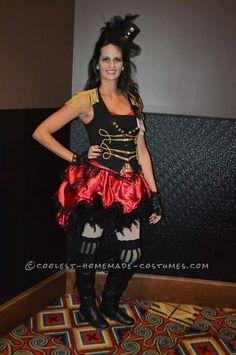 Luxurious Burlesque Female Ringmaster Costume… Coolest Halloween Costume Contest