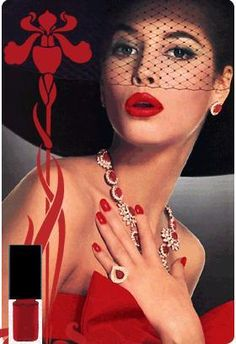 wow love it Red Nails and lips