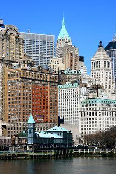 Waterfront, Battery Park, Manhattan, New York