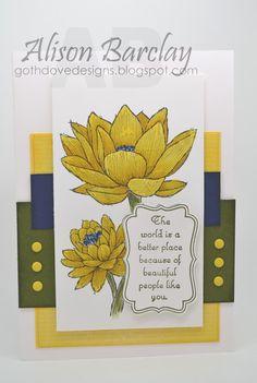 Gothdove Designs - Alison Barclay #stampinup #colorcoach #inspirecreateshare2014 #card #stampinupaustralia #blendabilities