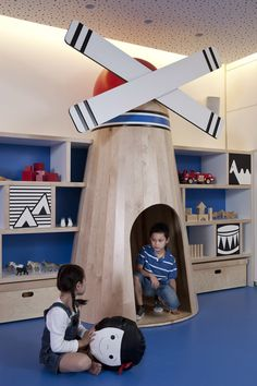 Windmills are the new teepee. I may need this. oh I mean.. my child may need this.