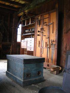 Woodworking Shop tool storage.