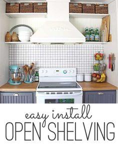 how to do easy open shelving