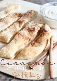 easy cinnamon sugar sticks {with frosting dip}. this photo is adorable :)