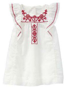 Paddington Bear™ for babyGap embroidered flutter dress | Gap
