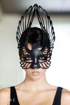 Raven leather mask #halloween #costume #idea #ideas