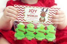 Christmas Treat Bag Tags! Peep trees or santas or reindeers!
