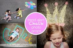 Jazz up your photos with sidewalk chalk.