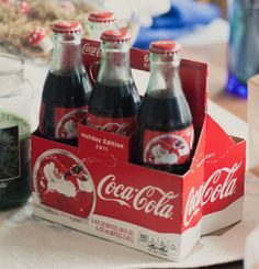 Coca-Cola in glass bottles, it doesn't taste any better than this served any other way.
