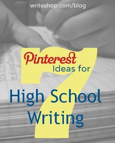 7 Pinterest Ideas for High School Writing, from editing tips to note-taking skills to wordplay!