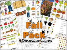 3 Dinosaurs - Fall Pack