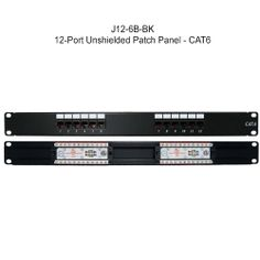 Cat 5e and Cat 6 Unshielded Patch Panels - These #Cat5e and #Cat6 #unshielded #patchpanels offer affordable connectivity for any #network. These popular, basic panels are available with anywhere from 24-96 ports to meet your specific #rack needs.