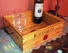 Masetto Wine Crate Serving Tray