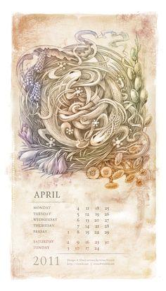 Calendar art by Irina Vinnik