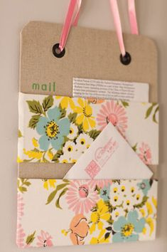 Stitch Craft Create | Craft Project: Magnetic Mail Sorter