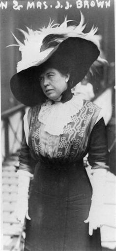 """Mrs. James J. """"Molly"""" Brown, a survivor of the Titanic, aboard the Carpathia, April 1912. The Titanic was considered unsinkable but foundered in frigid Atlantic waters off Newfoundland after striking an iceberg. About 700 passengers survived in lifeboats, but some 1,500 perished in the sinking. REUTERS/George Grantham Bain Collection/Library of Congress/Handout"""